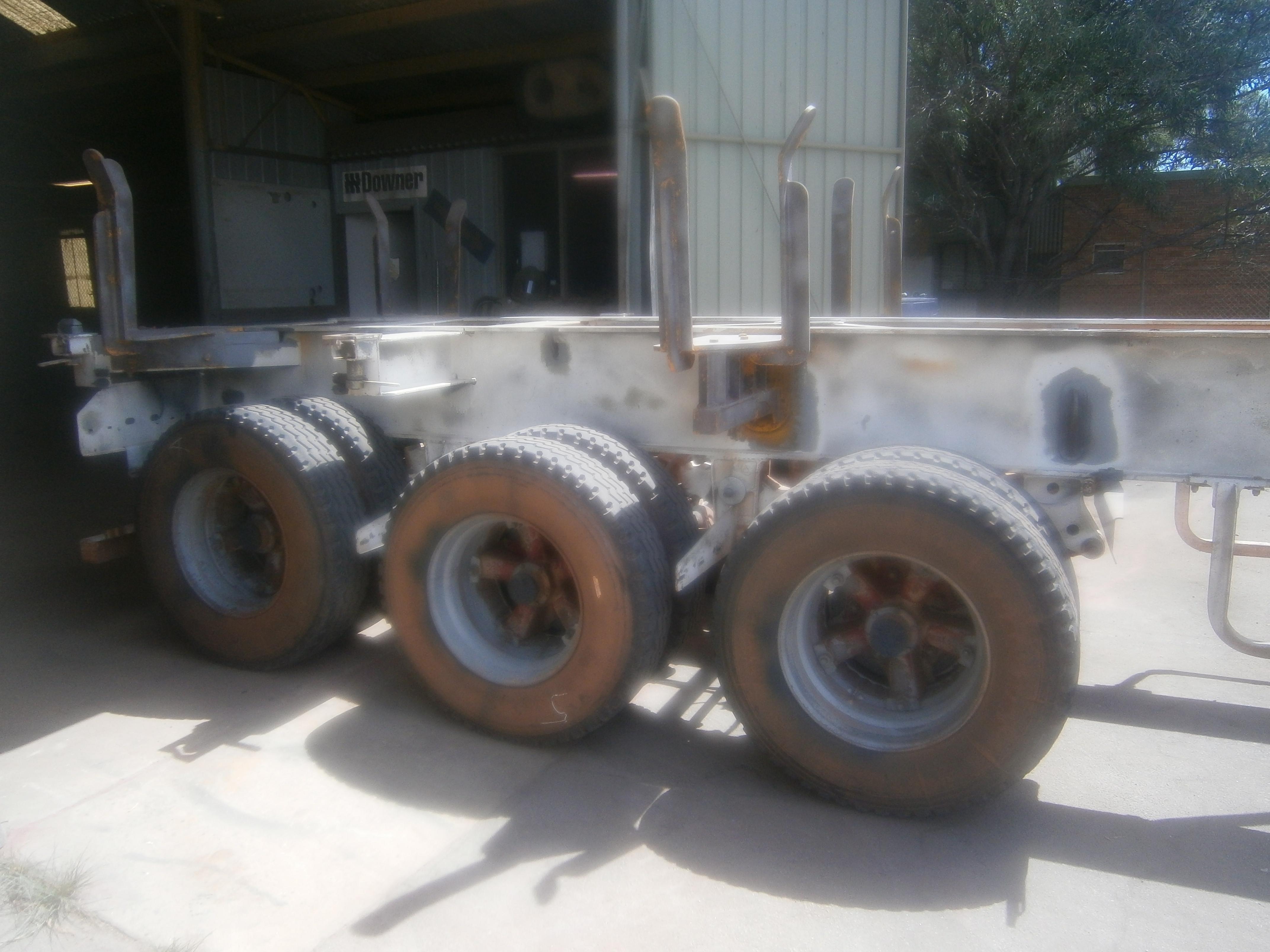 Flat deck trailer - before