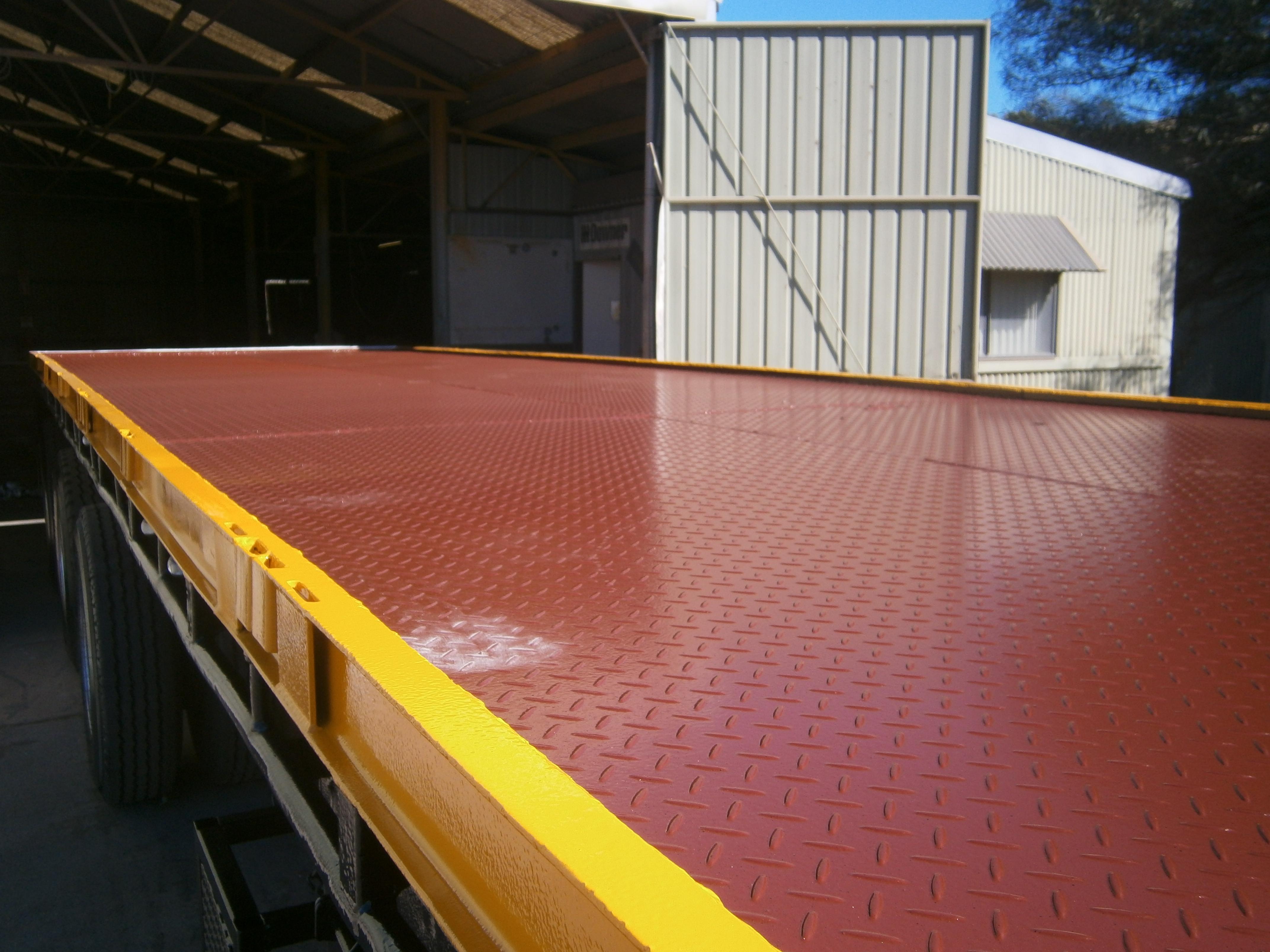 Flat deck trailer - after
